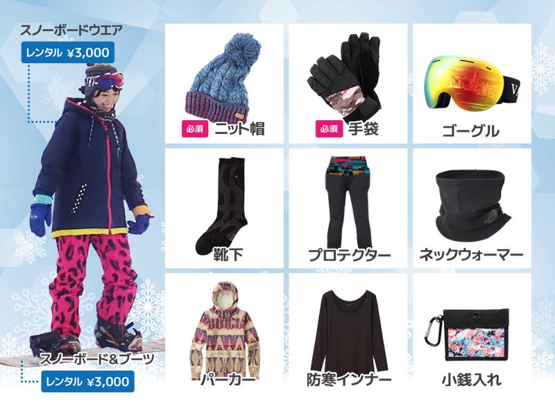スノーボード 持ち物 / 関西スノーボードサークル Nutsbery